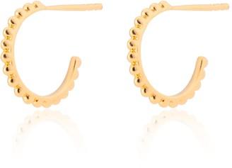 Katie Belle 18Ct Gold Vermeil Beaded Mini Hoops