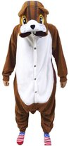 WOTOGOLD Animal Cosplay Costume Squirrel Unisex Adult Pajamas Brown