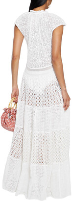 Anjuna Lulu Paneled Crocheted Lace And Broderie Anglaise Cotton Maxi Dress