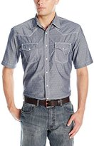Wrangler Men's 20X Short-Sleeve Snap Woven Shirt