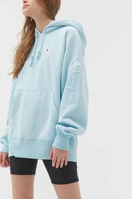 Champion UO Exclusive Boyfriend Script Sleeve Hoodie Sweatshirt