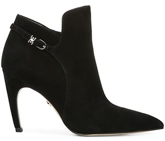 Sam Edelman Fiora Point-Toe Suede Booties