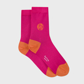 Paul Smith Women's Pink Socks With Contrasting PS Logo