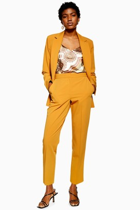 Topshop Womens Mustard Suit Trousers - Mustard