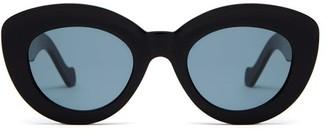 Loewe Round Cat-eye Acetate Sunglasses - Black