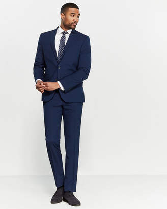 Kenneth Cole Reaction Two-Piece Navy Check Suit