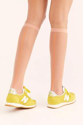 Free People Virgil Sheer Knee-High Socks by Intentionally Blank at
