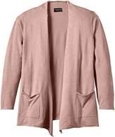 Via Appia Women's Long Sleeve Cardigan - Pink -