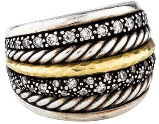 David Yurman Two-Tone Diamond Midnight Mélange Ring