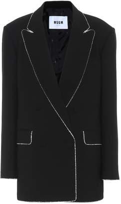 MSGM Embellished crepe blazer