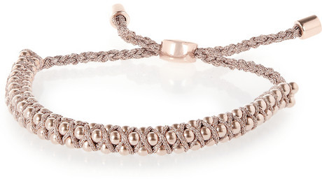 Monica Vinader Rio rose gold-plated beaded bracelet