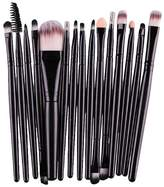 Mapletop 15 pcs/Sets Foundation Eyebrow Lip Brush Makeup Brushes Tool Black