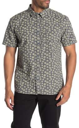 Quiksilver Modern Fit Flower Printed Short Sleeve Shirt