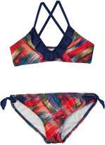 Splendid Girls' Plaid Patch Bralette Bikini