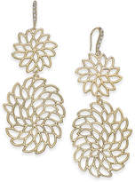 INC International Concepts I.n.c. Gold-Tone Crystal Openwork Flower Drop Earrings, Created for Macy's