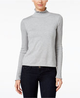CeCe Ruffled Turtleneck Sweater