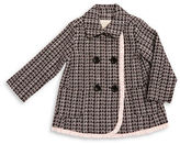 Kate Spade Baby Girls Ruffled Double-Breasted Tweed Coat