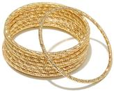 "RJ Graziano Go Glitter"" Faceted Metal 10-piece Bangle Bracelet Set"