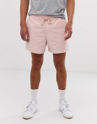 New Look pull on cord shorts in pastel pink