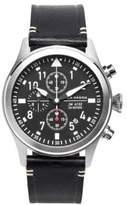 Jack Mason Aviation Stainless Steel & Italian Leather Chronograph Strap Watch