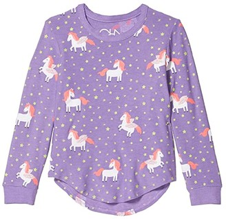 Chaser Unicorn Dream Cozy Knit Pullover (Little Kids/Big Kids) (Electric) Girl's Clothing
