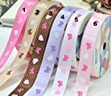 Ribbon WHITE WITH HEARTS & BOWS (#5) ~ 2 yards (1.82 metres) of 9mm Wide Ribbon Ideal For Presents~Gifts~Cards~Scrap Booking~Decoration by Ribbon