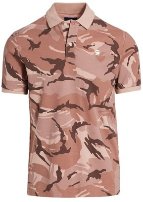 G Star Slim-Fit Camoflauge Polo