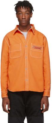 Heron Preston Orange Uniform Shirt