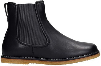 Loewe Ankle Boots In Black Leather