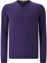 John Lewis Made In Italy Cashmere V-neck Jumper