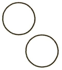 Ettika Perfect Crystal Hoop Earrings