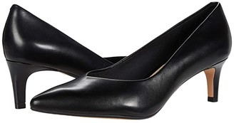 Clarks Laina Court (Black Leather) Women's Shoes
