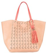 Urban Originals 'Admire' Perforated Faux Leather Tote - Coral