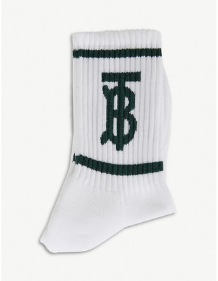Burberry TB-monogrammed cotton-blend socks