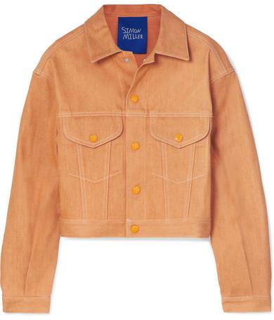 Simon Miller Morgo Cropped Denim Jacket - Orange