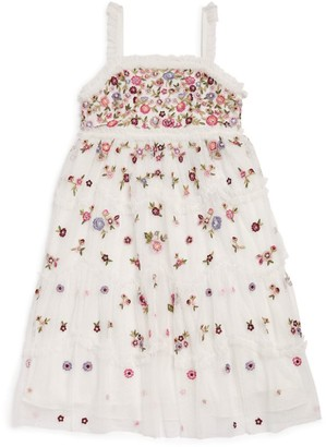 Needle & Thread Midsummer Floral Strap Dress (4-10 years)