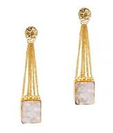 Mela Artisans Bewitching In White Earrings