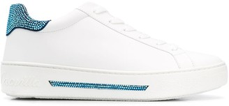 Rene Caovilla crystal detailed low top sneakers