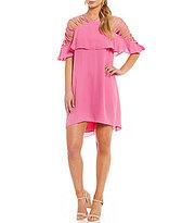 Gianni Bini Fan Fav Marina Strappy Shoulder Popover Dress