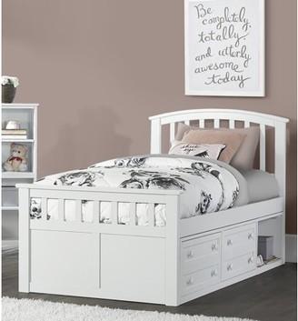 Hillsdale Furniture Schoolhouse 4.0 Charlie Captain's Bed, Multiple Sizes, Colors & Options