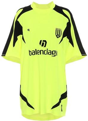 Balenciaga Soccer oversized jersey T-shirt
