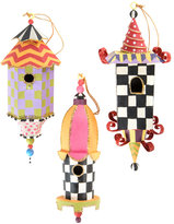 Mackenzie Childs MacKenzie-Childs - Birdhouse Tree Decorations - Set of 3