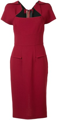 Roland Mouret Myrtha zip-up dress