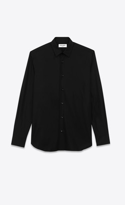 Saint Laurent Classic Shirts Shirt In Cotton Poplin Black 14