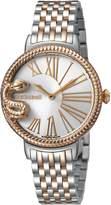 Roberto Cavalli OVERSIZED SNAKE Women's Swiss-Quartz Two Tone Stainless Steel Bracelet Watch