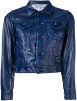 Comme des Garcons cropped jacket - women - Cotton/Artificial Leather - S