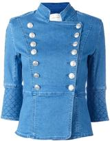 Pierre Balmain double breasted jacket - women - Cotton/Spandex/Elastane - 40
