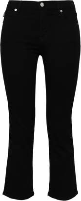 Love Moschino Cropped Printed High-rise Bootcut Jeans