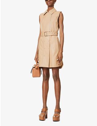 Sportmax Dionne leather mini dress