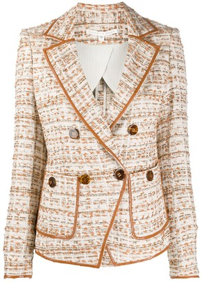 Veronica Beard Double-Breasted Tweed Blazer